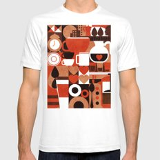 Coffee Story Mens Fitted Tee White SMALL