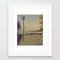 Man's best (surfing) friend Framed Art Print