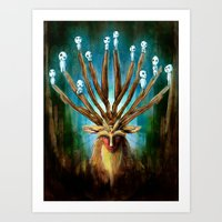 Princess Mononoke The De… Art Print