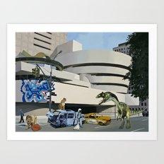 Post-Nuclear Guggenheim Visit Art Print