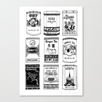 chinese teabox collection Canvas Print