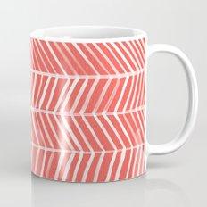 Coral Herringbone Mug