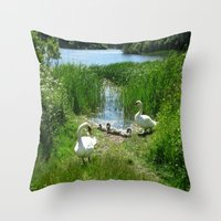 Bosherston Lily Ponds.Pembrokeshire.Wales. Throw Pillow