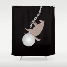 Wreckingwolf Shower Curtain