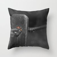 shelter from the storm... Throw Pillow