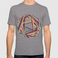 Bars and Stripes Mens Fitted Tee Tri-Grey SMALL