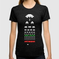 Eye Exam for Geeks Womens Fitted Tee Tri-Black SMALL