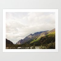 Crow Pass, Anchorage AK Art Print