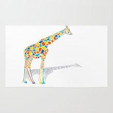 Technicolor Giraffe Rug