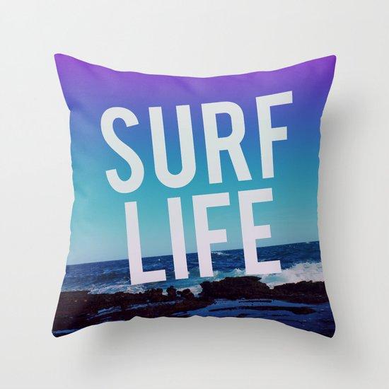 Surf Life Throw Pillow