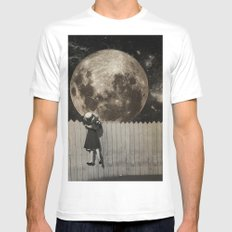 untitled Collection -- Backyard SMALL Mens Fitted Tee White