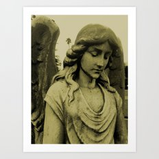 Sepia Angel Art Print
