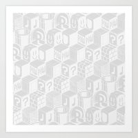 SUPER MARIO BLOCK-OUT! (White Edition) Art Print