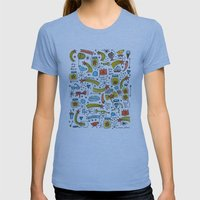 Chasing Stars And Puttin… Womens Fitted Tee Athletic Blue SMALL
