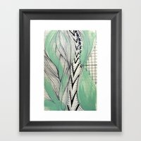 Vintage Pattern Framed Art Print