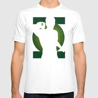 SuperHeroes Shadows : Green Lantern Mens Fitted Tee White SMALL