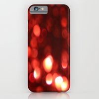 iPhone & iPod Case featuring Red Blurred Lights by ParadiseApparel