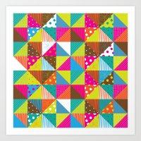 Crazy Squares Art Print