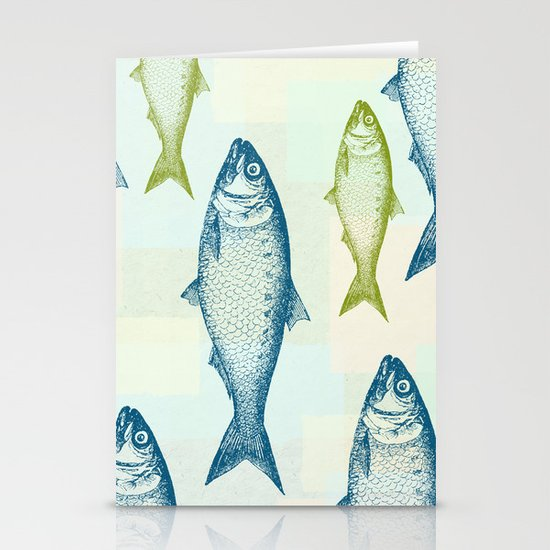 Vintage Fish Stationery Card