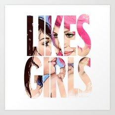 Likes Girls Art Print