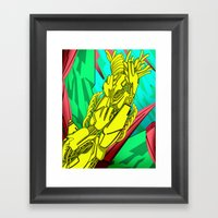 AUTOMATIC WORM 5 Framed Art Print