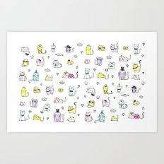 Cats in Couture Art Print
