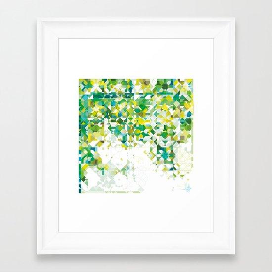 Zellige | 001 Green Framed Art Print