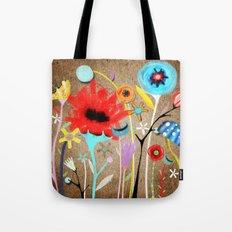 Primitive Ranunculus Bouquet Tote Bag