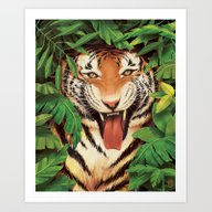 Art Print featuring Guardian Of The Jungle by Katie Sanvick