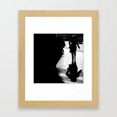 Me, myself and my shadow Framed Art Print