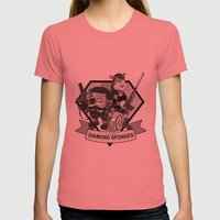 Diamond Sponges Womens Fitted Tee Pomegranate SMALL