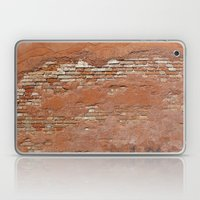 Orange Brick Wall Laptop & iPad Skin
