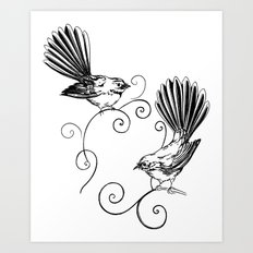 Fantails Art Print