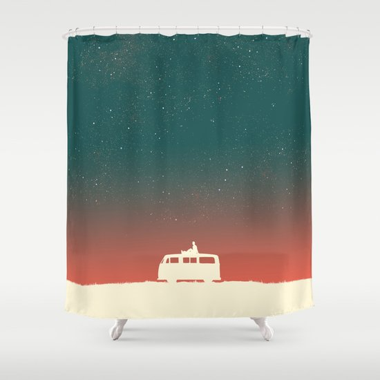 Quiet Night - starry sky Shower Curtain