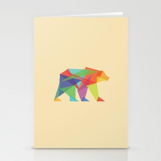 Fractal Geometric bear Stationery Card