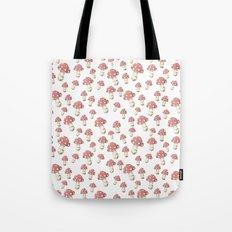 Mushrooms in Peach Tote Bag
