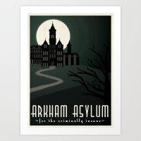 Arkham Asylum For The Cr… Art Print