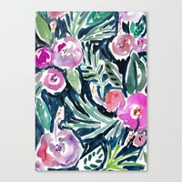 Nighttime In The Jungle Canvas Print