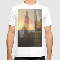 London Sunset SMALL White Mens Fitted Tee