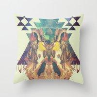 Cosmic Dance Throw Pillow