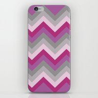 Radiant Orchid Chevron iPhone & iPod Skin