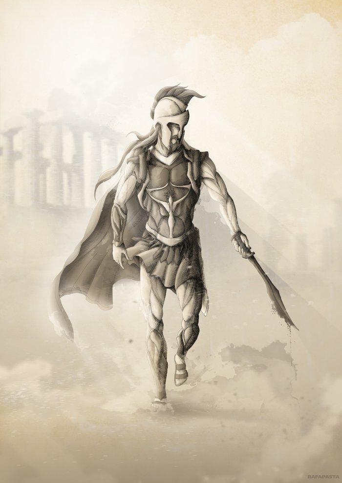 Ares (God of War) Art Print by Rafapasta   Society6