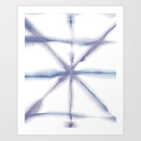 Light Dye - Folding Blues Art Print