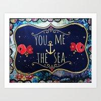 You, Me and the Sea Art Print