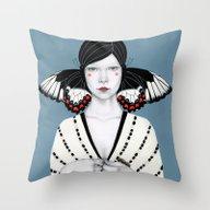 Throw Pillow featuring Mila by Sofia Bonati