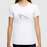 Etched print no. 1 Womens Fitted Tee Ash Grey SMALL