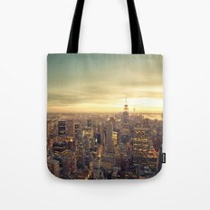 New York Skyline Cityscape Tote Bag