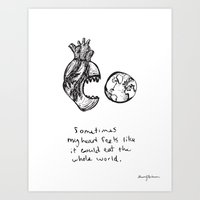For The Heart-hungry Art Print