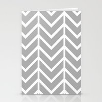 GRAY THIN CHEVRON Stationery Cards
