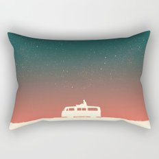 Quiet Night - starry sky Rectangular Pillow